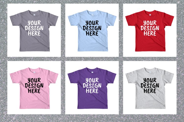 American Apparel 2105W Kids T-shirt Mock Ups - 10|PNG example image 1