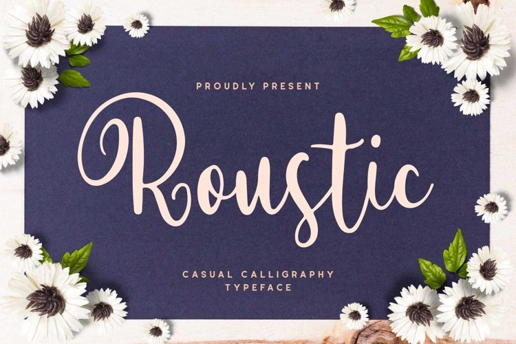 Roustic - Casual Calligraphy Typeface example image 1