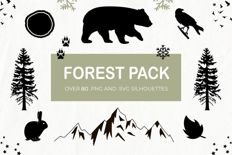 Forest Rustic Silhouettes clipart example image 1