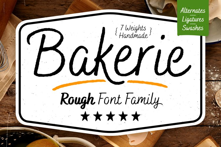 Bakerie Rough Font Family example image 1
