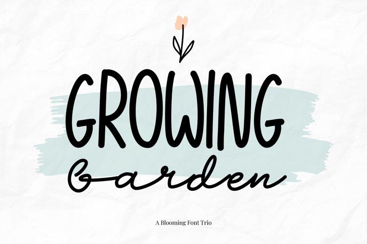 Growing Garden Handwritten Font Trio example image 1
