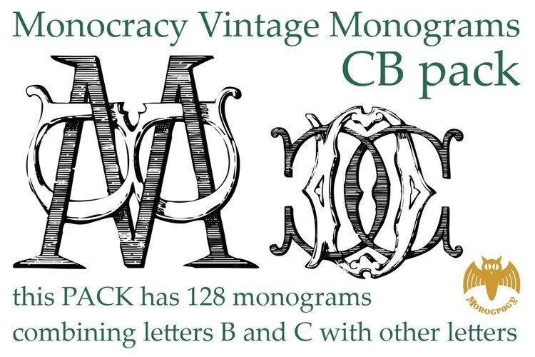 Monocracy Vintage Monograms Pack CB example image 1