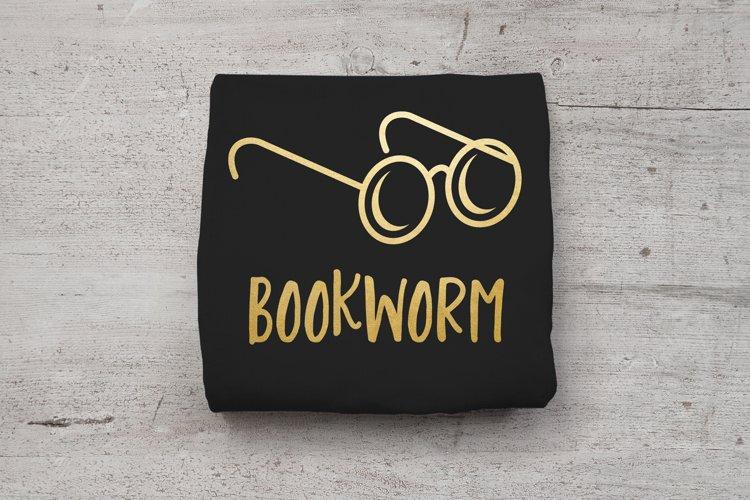 Bookworm Round Glasses SVG File