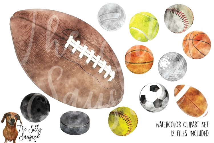 Sports Watercolor Clipart