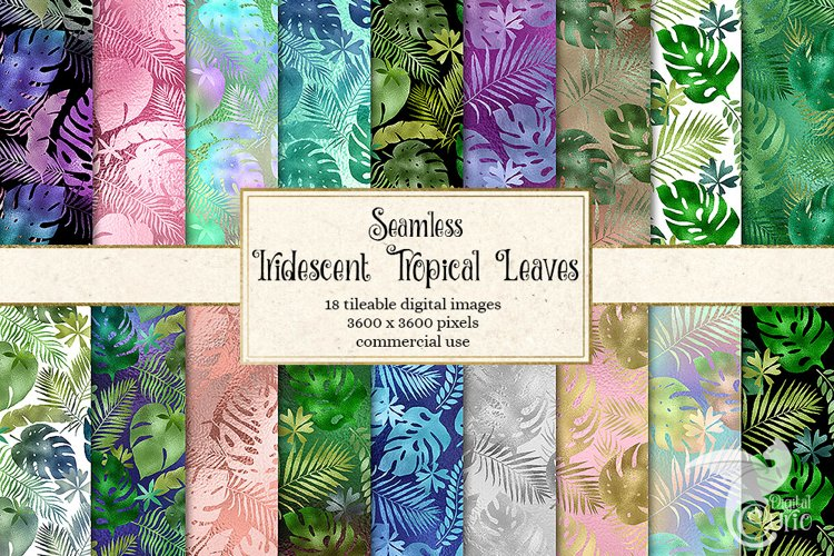 Iridescent Tropical Leaf Patterns example image 1