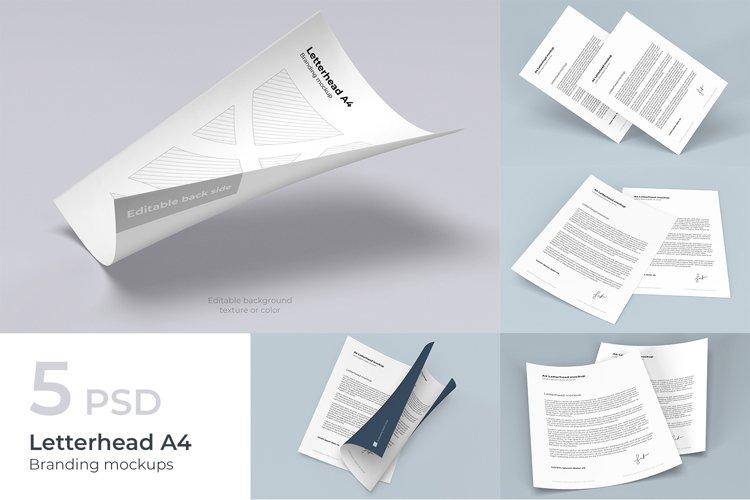 Letterhead A4 Branding Mockups