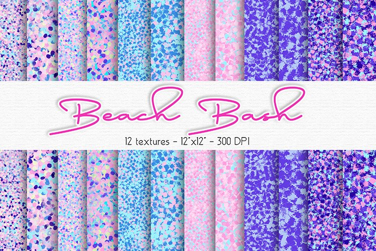 Beach Bash Spring Digital Paper Set