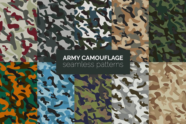 Army Camouflage Seamless Patterns