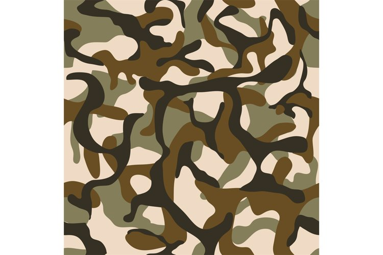 Camouflage, military camo vector seamless pattern example image 1
