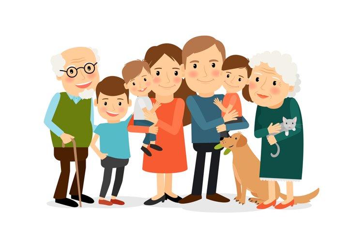 Happy big family portrait example image 1