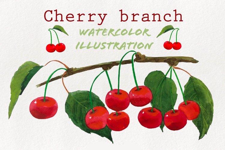 Watercolor cherry brunch