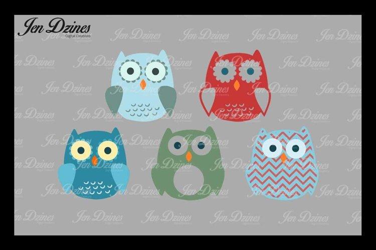 Owl Bundle SVG DXF EPS PNG example image 1