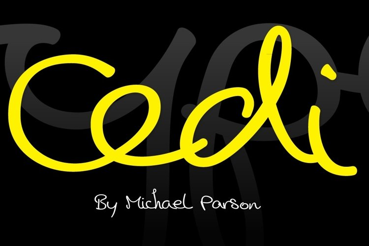 Cedi Typeface cover page