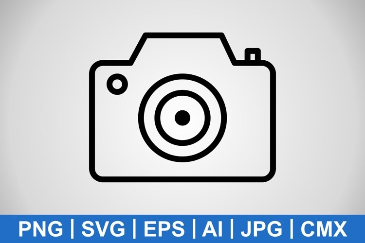 Vector Camera Icon example image 1