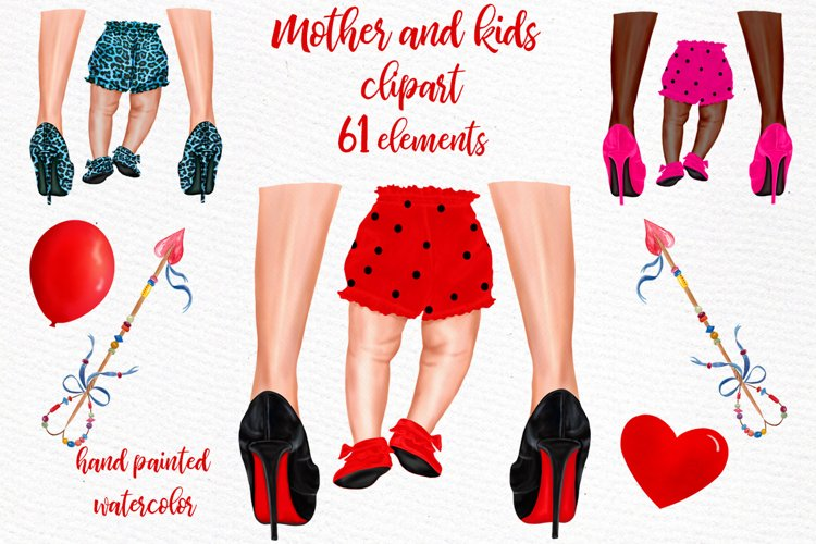 Mother and child clipart Legs Shoes Clipart Red Heels Png