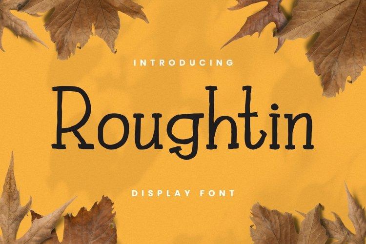 Web Font Rougthin Font example image 1