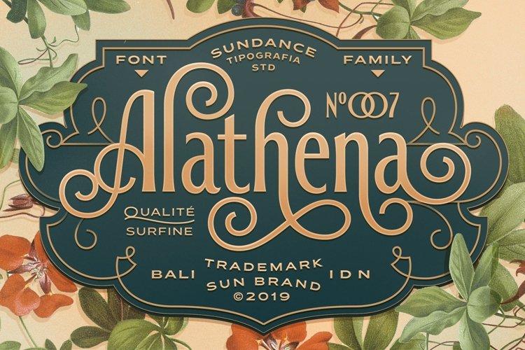 Alathena Font Family example image 1