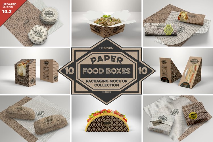 VOL.10 Food Box Packaging MockUps