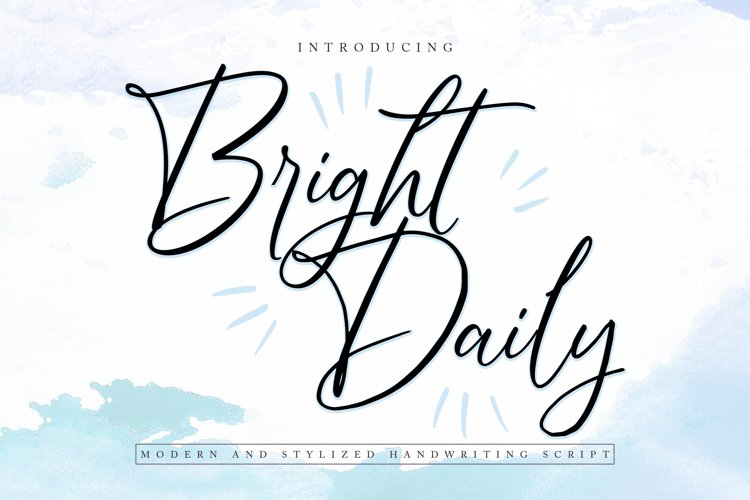 BrightDaily | Modern & Stylized Handwriting Script Font example image 1