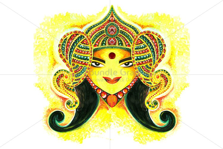 Maa Durga -  Abstract Painting example image 1