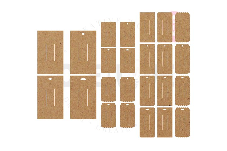 24 Templates Rectangle Hair Bow Display Card | BDC036 example image 1