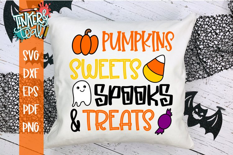 Pumpkins Sweets Spooks and Treats Halloween SVG Cut File example image 1