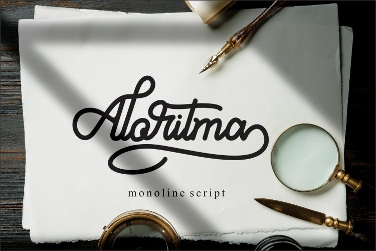 Aloritma - Monoline Script example image 1