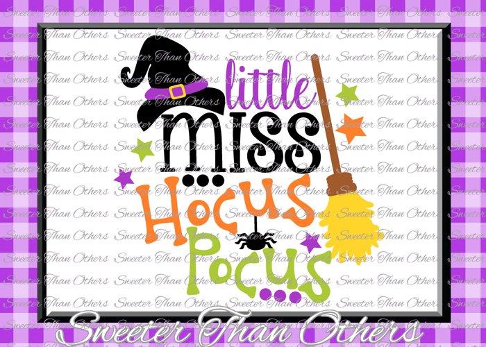 Halloween svg, Little Miss Hocus Pocus svg example image 1