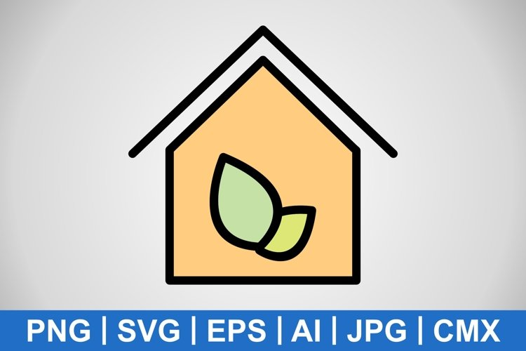 Vector Eco House Icon example image 1