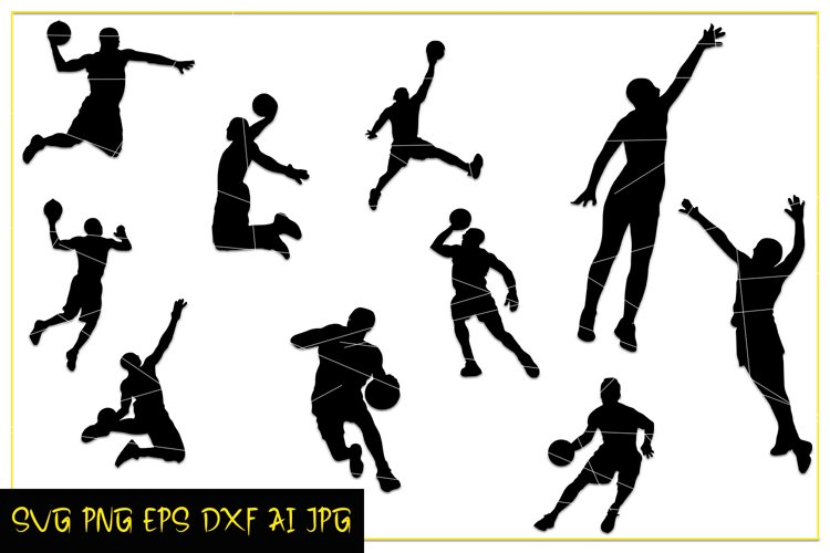 Basketball Players SVG, Sports images for printable, Digital example image 1