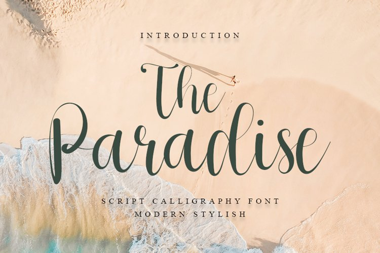 The Paradise - Script Calligraphy Font- Web Font example image 1