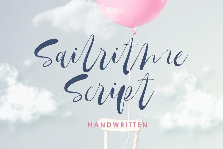 Sailritme - Handwritten Script example image 1