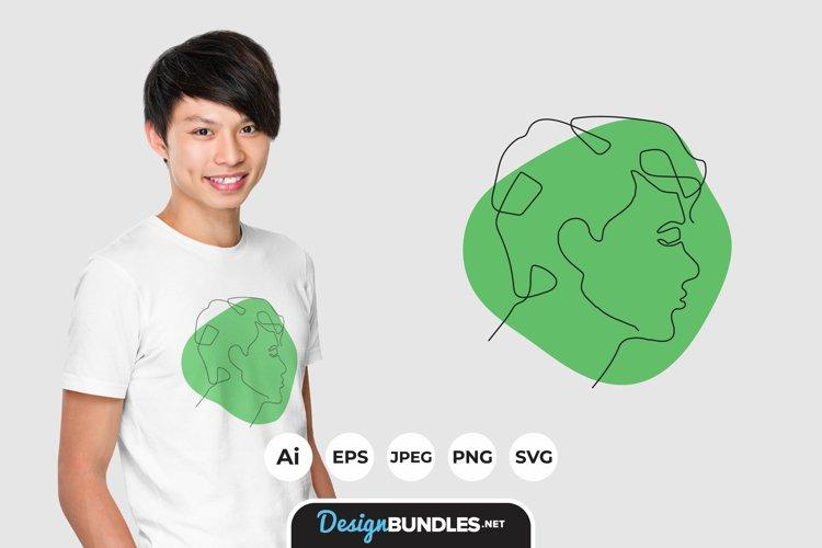 Man Face Illustrations for T-Shirt Design