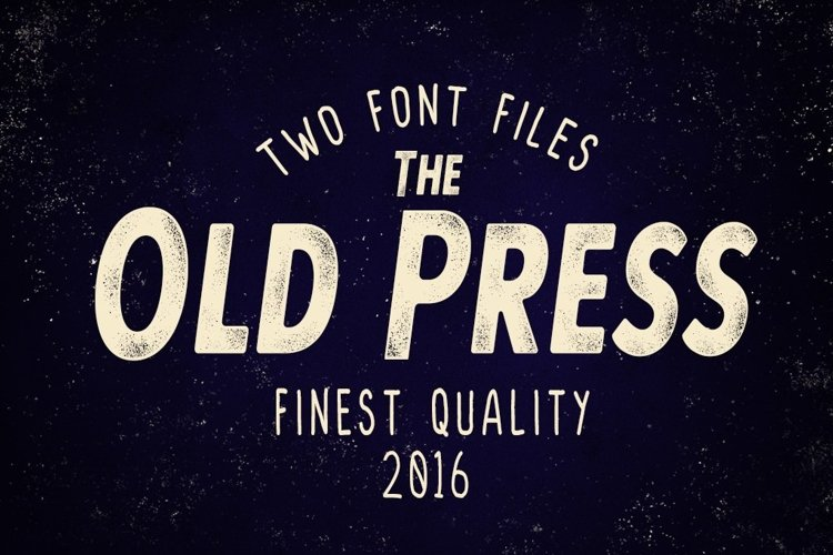 Web Font Old Press Two Styles example image 1
