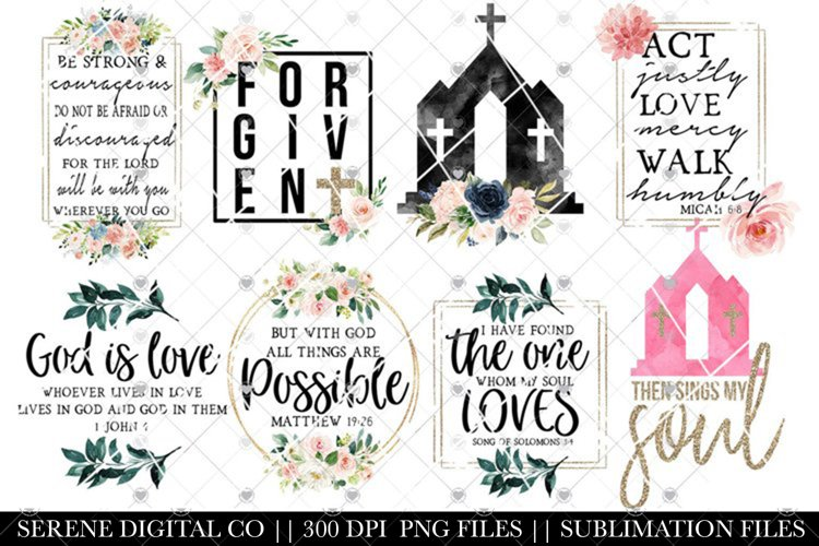 Christian Sublimation Designs - PNG Bundle
