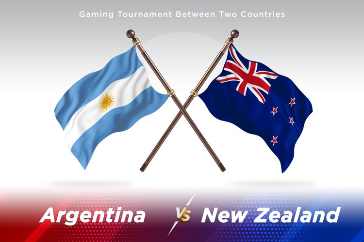 Argentina vs New Zealand Two Flags example image 1