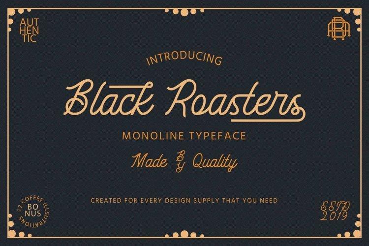 Black Roasters   Monoline Font