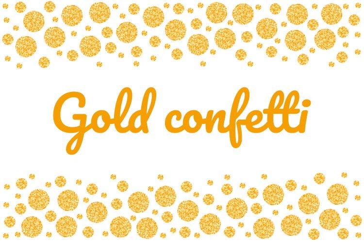 Gold glitter Confetti, big and small circles