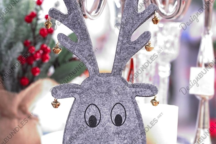 Defocused decorative christmas deer head on the table example image 1