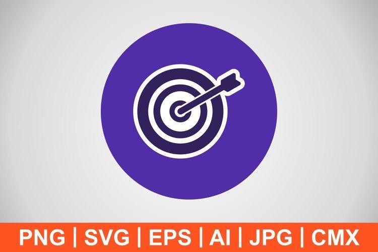 Vector Bullseye Icon example image 1