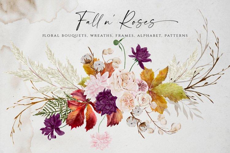 Fall n Roses I Fall Clipart