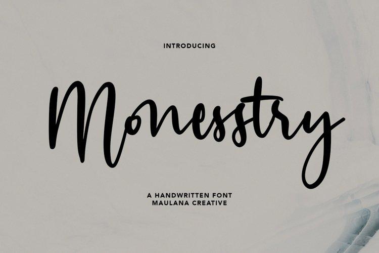 Monesstry Handwritten Script example image 1