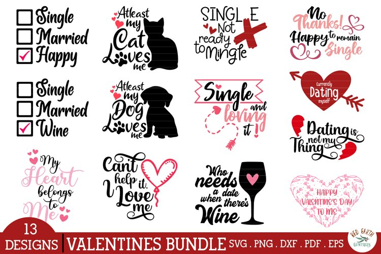 Anti Valentines day quotes bundle SVG,PNG,DXF,no date single