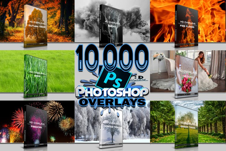 10.000 DIGITAL PHOTOSHOP PHOTOGRAPHY OVERLAYS, BACKGROUNDS