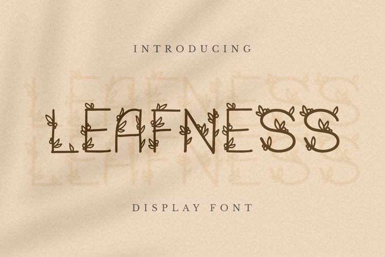 Leafness Font example image 1