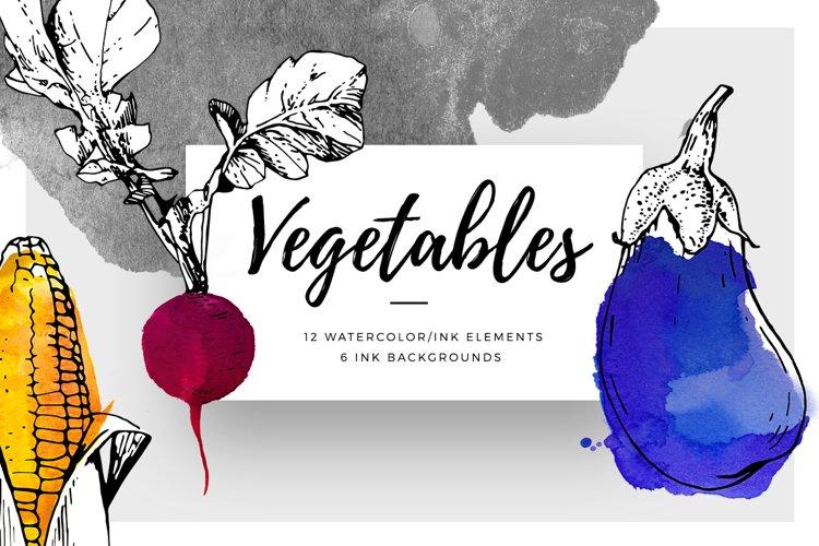 Ink & Watercolour Vegetables
