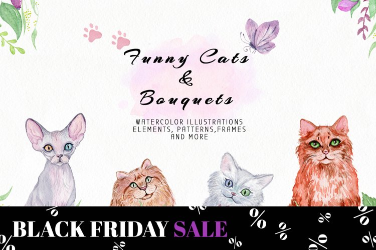 Funny Cats & Bouquets example image 1