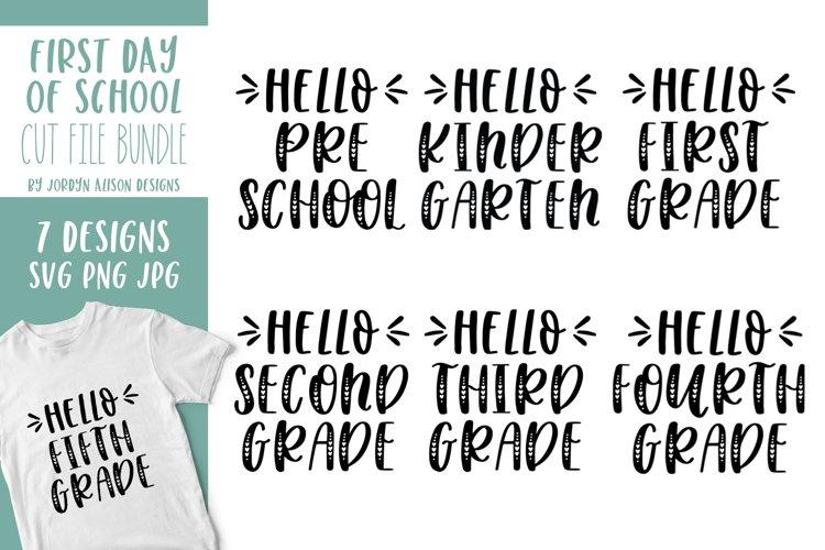 7 First Day of School SVG Bundle, Grades Bundle