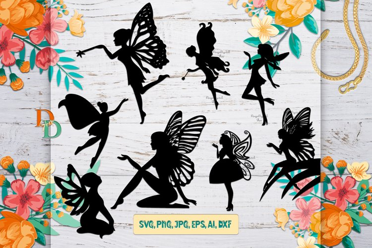 Fairy Digital Bundle, SVG bundle images, Fairies Prints example image 1