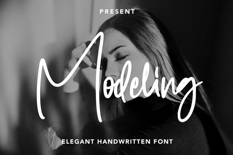 Web Font Modeling - Elegant Handwritten Font example image 1